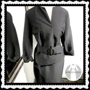 Jackets & Blazers - Black Jacket & Skirt Set // Size 18 // NWOT
